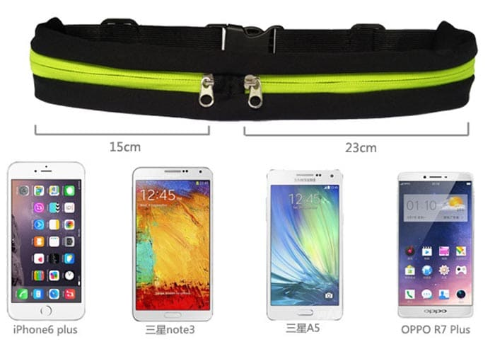 Jogging Belt, double zipper, jogging belt, hiking, running