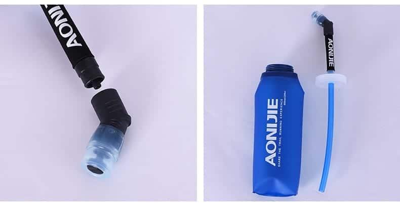 AONIJIE Soft Flask 600ML, water bottle, running, marathon BPA free, botol, water storage 500ml, foldable, straw bottle