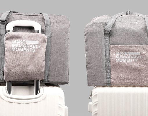 Suede Foldable Travel Bag