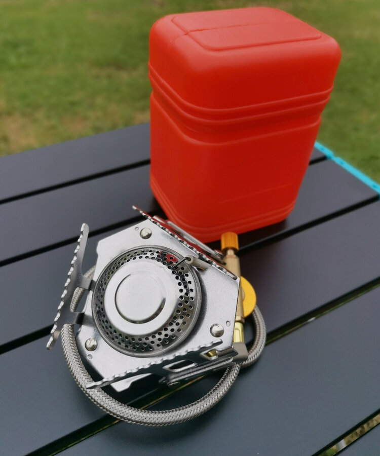 Spider Stove with Hose and Adapter, camping stove, camping gas stove, best portable camping stove, types of camping stoves, light camping stove