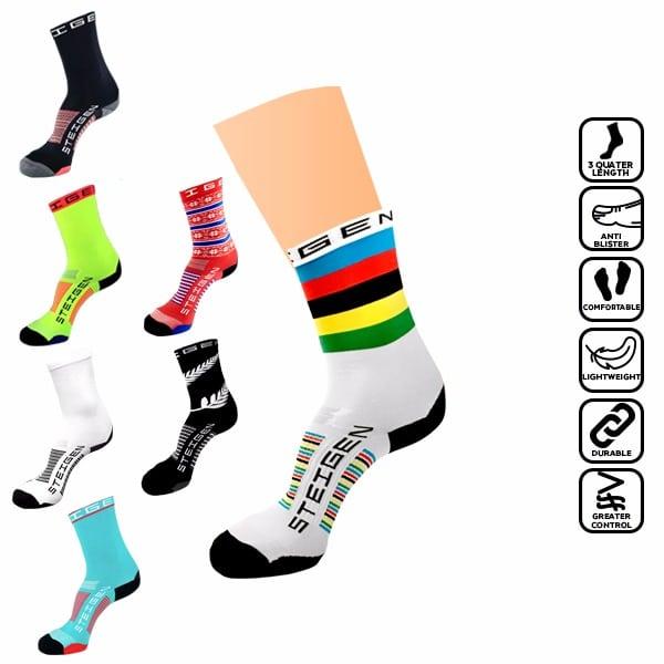 Steigen 3/4 Length, anti blister sock, runner, running, marathon, stoking, selesa, tidak melecet