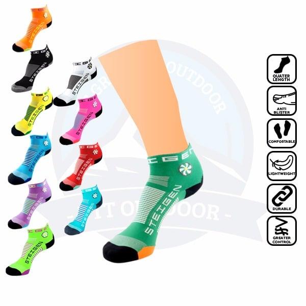 Steigen 1/4 Length, anti blister sock, runner, running, marathon, stoking, selesa, tidak melecet
