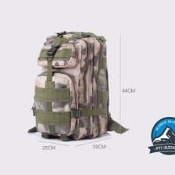 TAHAN Tactical 35L Backpack Size