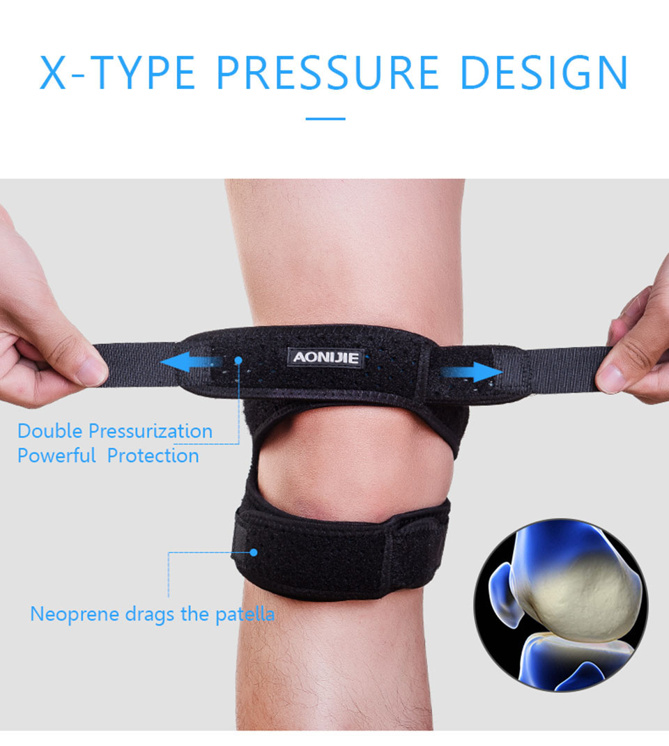 Aonijie Patella Knee Guard, adjustable, mesh fabric, running, cycling, knee guard, tight