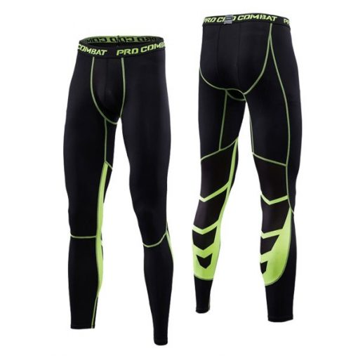 Green fitness pro compression pants