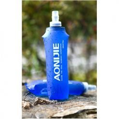AONIJIE 500ML Soft Flask, water bottle, running, marathon BPA free, botol, water storage 500ml, foldable, straw bottle