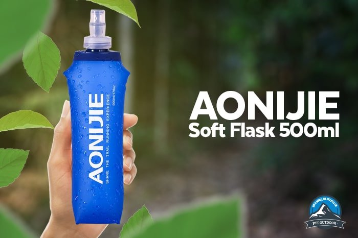 AONIJIE 500ML Soft Flask, water bottle, running, marathon BPA free, botol, water storage 500ml, foldable, straw bottle