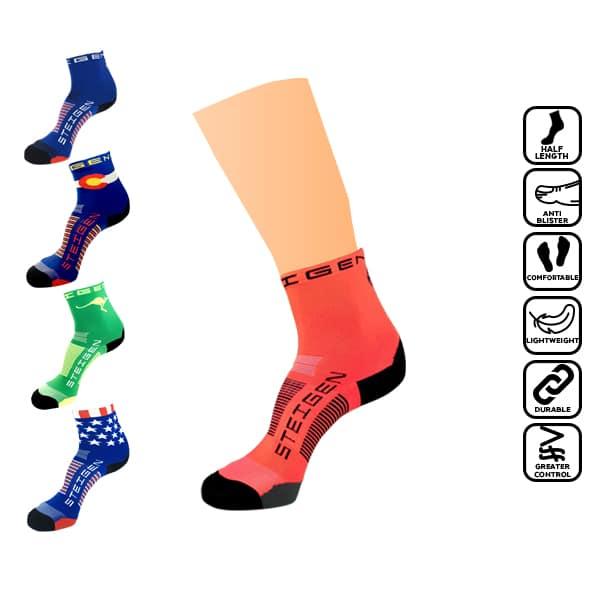 Steigen 1/2 Length, anti blister sock, runner, running, marathon, stoking, selesa, tidak melecet