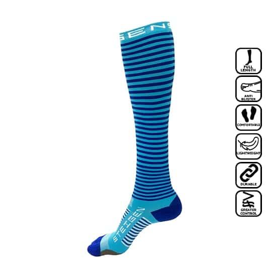 Steigen Full, anti blister sock, anti melecet, selesa, comfortable, stoking, panjang, stoking betis, football, soccer, running, marathon, hiking