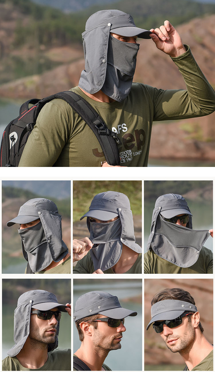 Tahan Outdoor Multi-function Sunhat, removal, cap, cover face sunhat, sunlight cover cap, free shipping, adjustable, affordable, unisex wear, cap, sun cap, sun visor cap, uv protection, outdoor sun cap