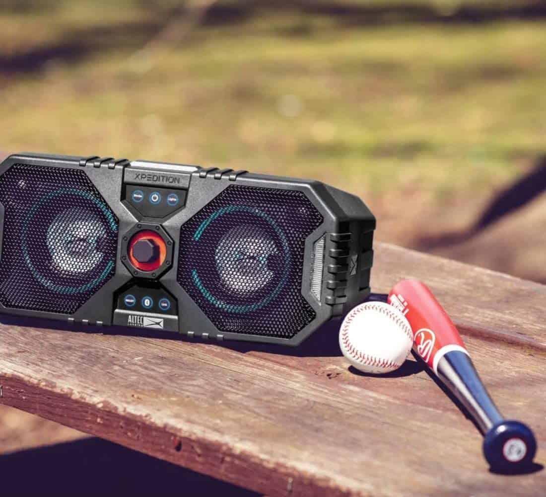altec lansing speaker, water resistance speaker, outdoor xpedition speaker, family speaker, outdoor speaker, waterproof speaker, 12 colour led, speaker, portable speaker
