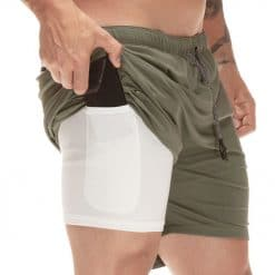 Let's Fit Men's Compression Short Pants with Pockets