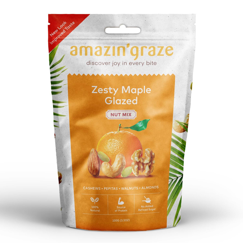 Zesty maple glazed Nut