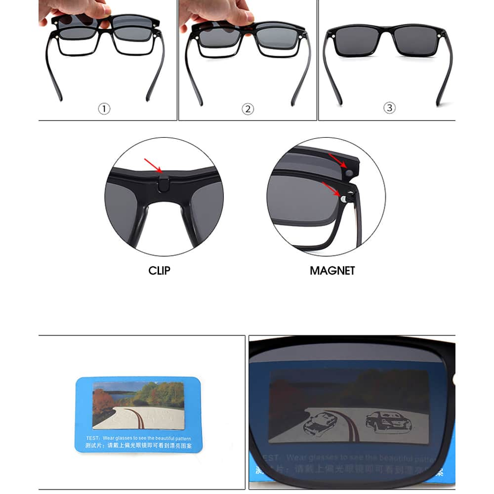 Moffy Outdoor Polarized Sunglasses with Magnetic Frame, running, cycling, sunglasses, outdoor accessories, camping and sport equipment