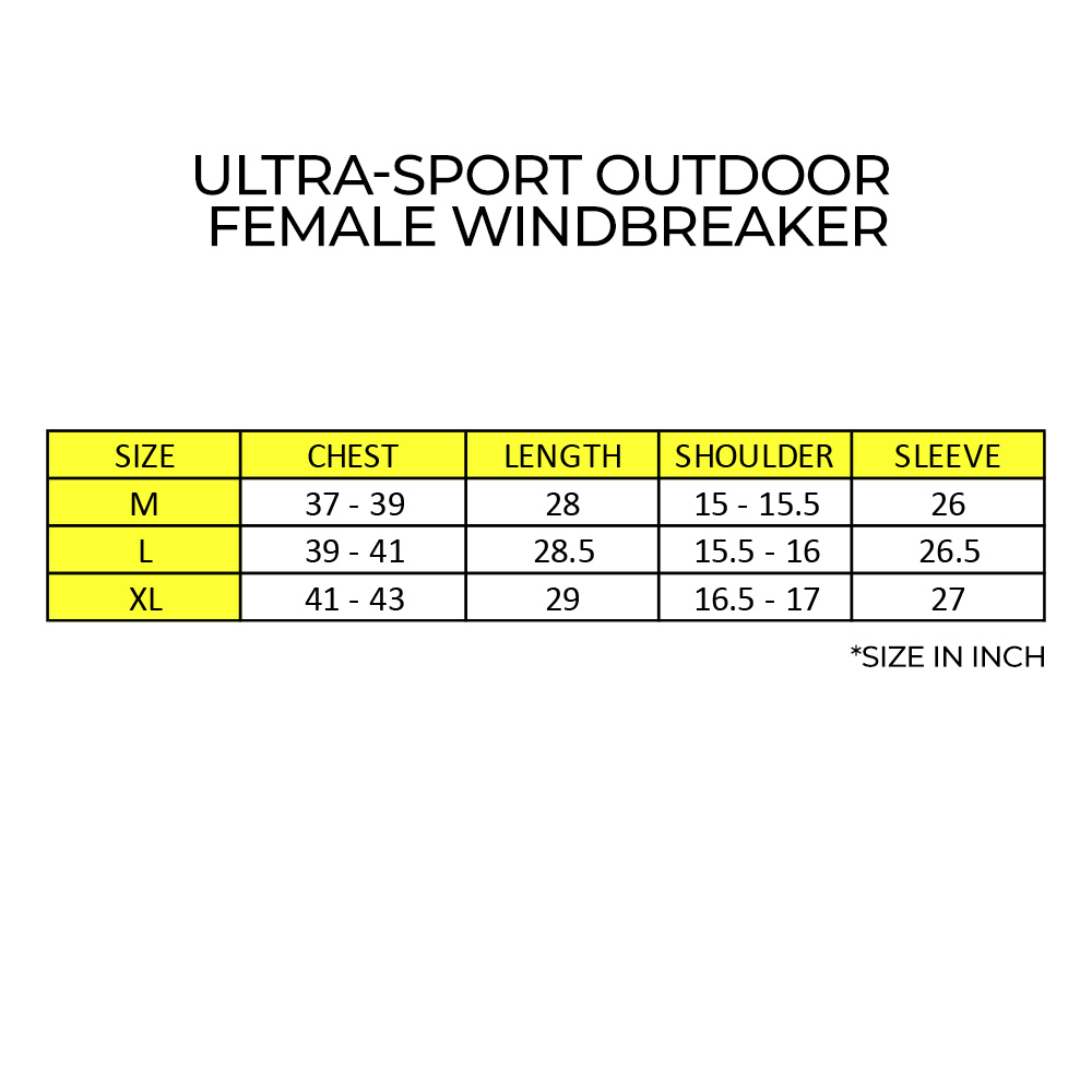 Ultra-Sport Outdoor Female Windbreaker, windbreaker ringan, odor proof, baju hujan malaysia, windbreaker slim, body fit windbreaker
