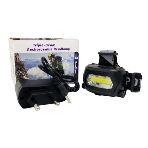 C090 1LED 1COB Rechargeable Headlamp 1