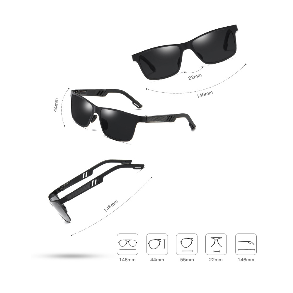 Ez fit Polarized Outdoor Sunglasses Size