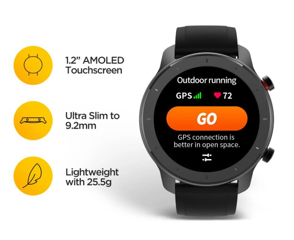 Amazfit GTR 42MM Smartwatch, jam tangan, watch, travel, outdoor, cycling, running, GPS