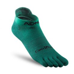 Aonijie Short Compression Toe Socks Green 1