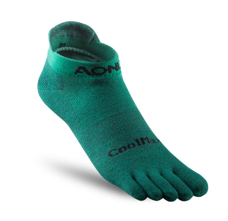 Aonijie Short Compression Toe Socks Green