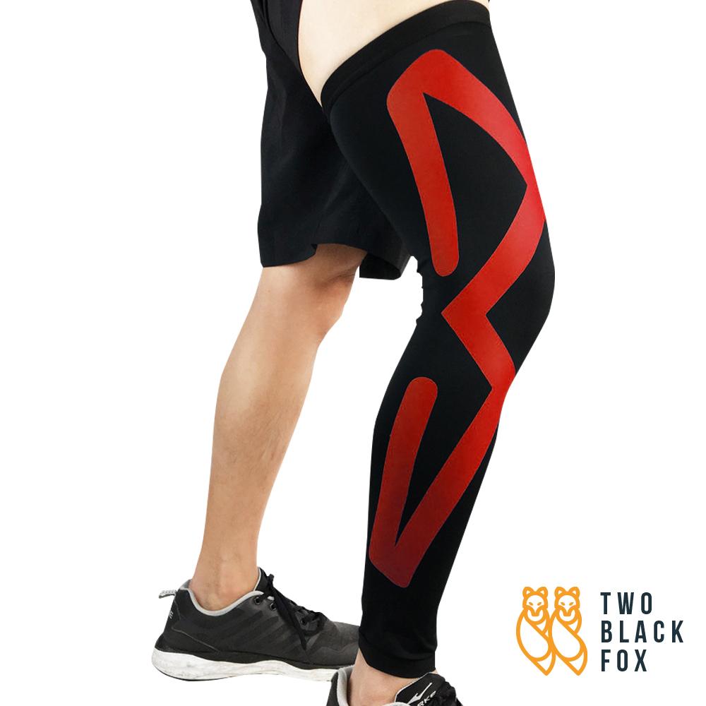 TBF Compression Leg Sleeve red 2 1