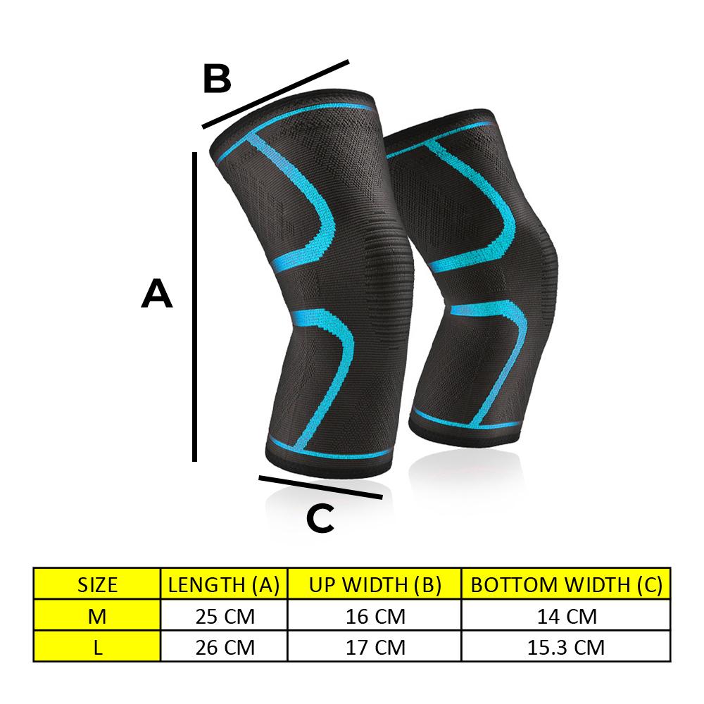 TBF Compression Knee Guard, lutut, tambah pergerakan, improve movement, healthy