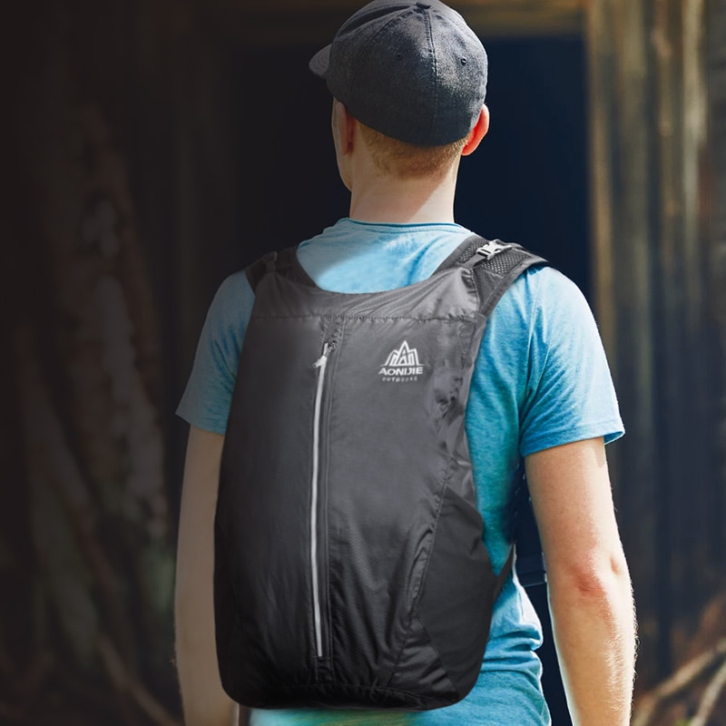 AONIJIE 25L Foldable Backpack, lightweight, super comfortable backpack, aonijie malaysia, aonijie bagpack, bag aonijie malaysia, best deals backpack in malaysia, blue, black, orange, affordable, durable, comfortable, cheapest in town