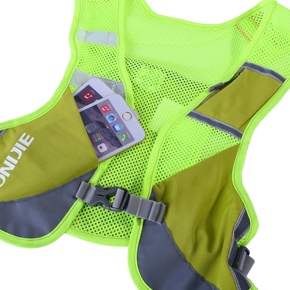 Aonijie Reflective Bag Vest, aonijie malaysia, aonijie, bag vest, lightweight vest, pink, green, grey, hydration bag vest