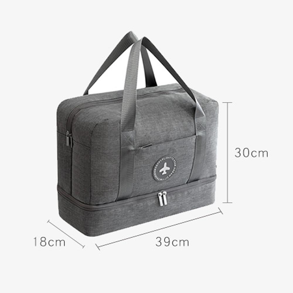 Outdoor Travel Gym Bag, Lightweight Travel Bag, Large Capacity Travel Bag, Outdoor Bag, Shoes Bag, Double Zipper Bag