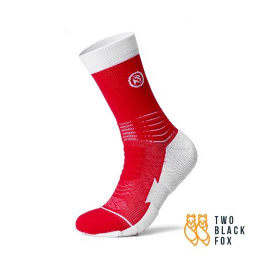 TBF 3O4 Length Compression Socks Red White 1