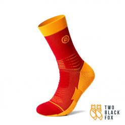 TBF 3O4 Length Compression Socks Red Yellow 1