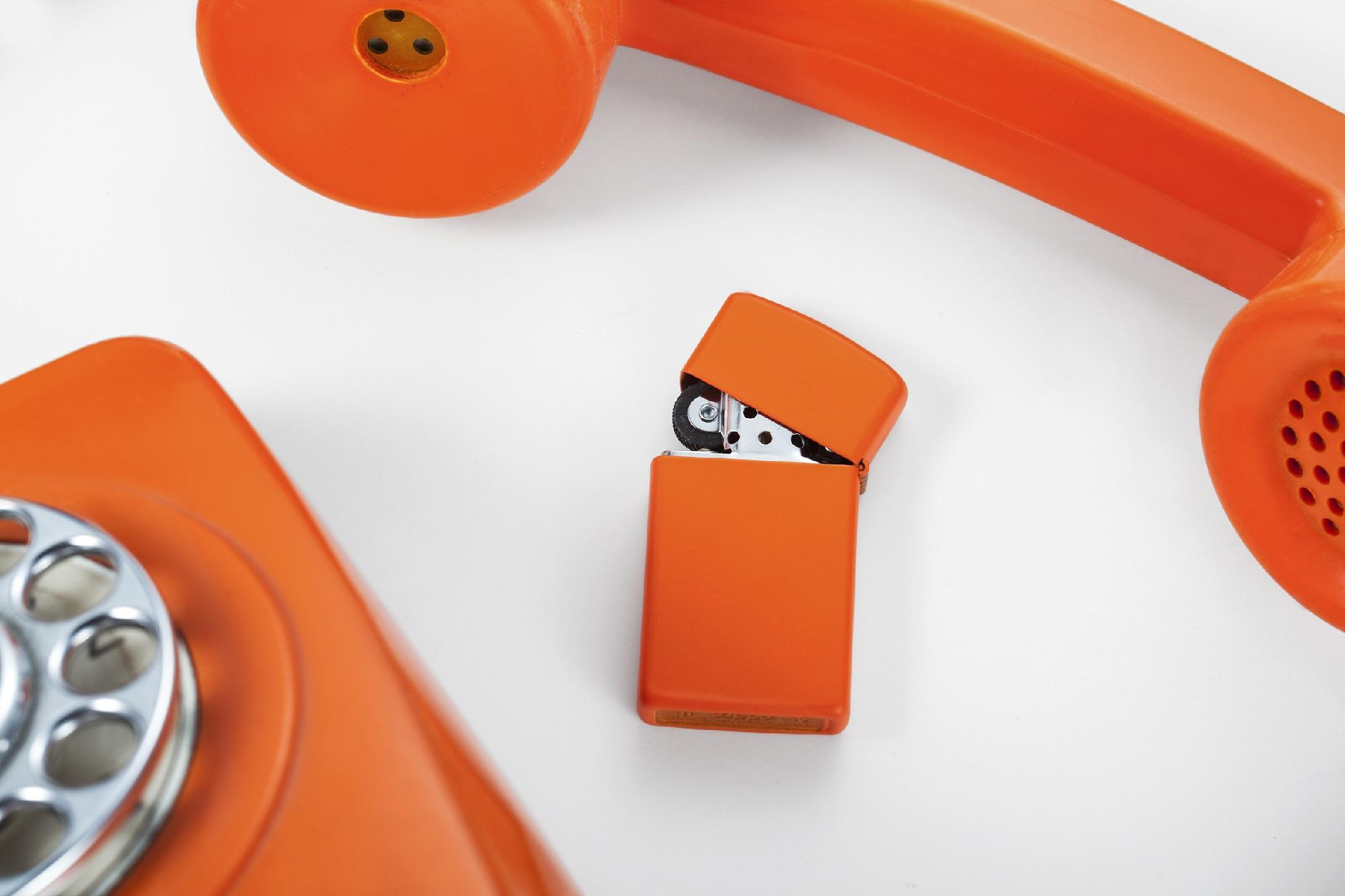 zippo slim orange