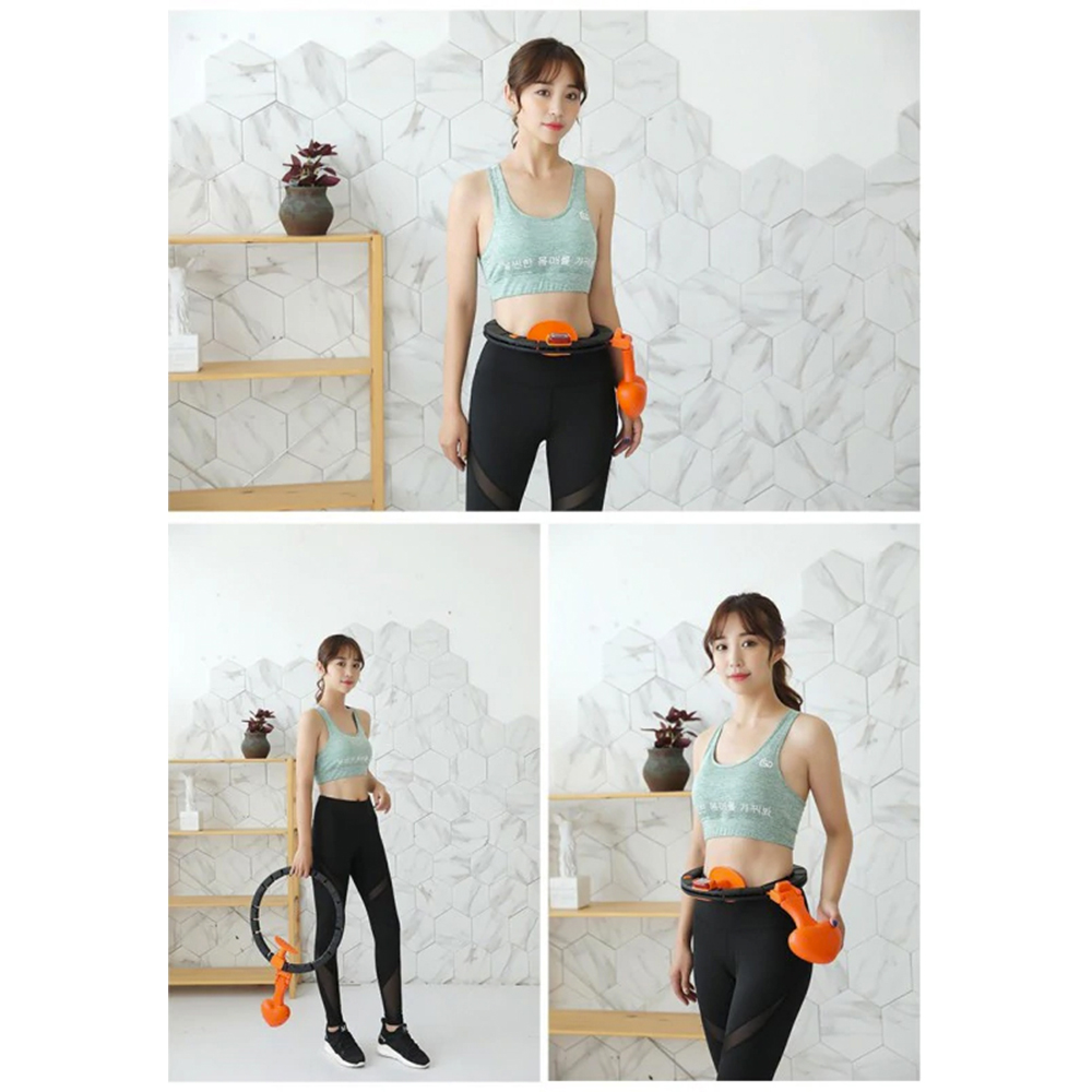 TBF Digital Hula Hoop Home workout Exercise Muscle Training Get Fit Hoop