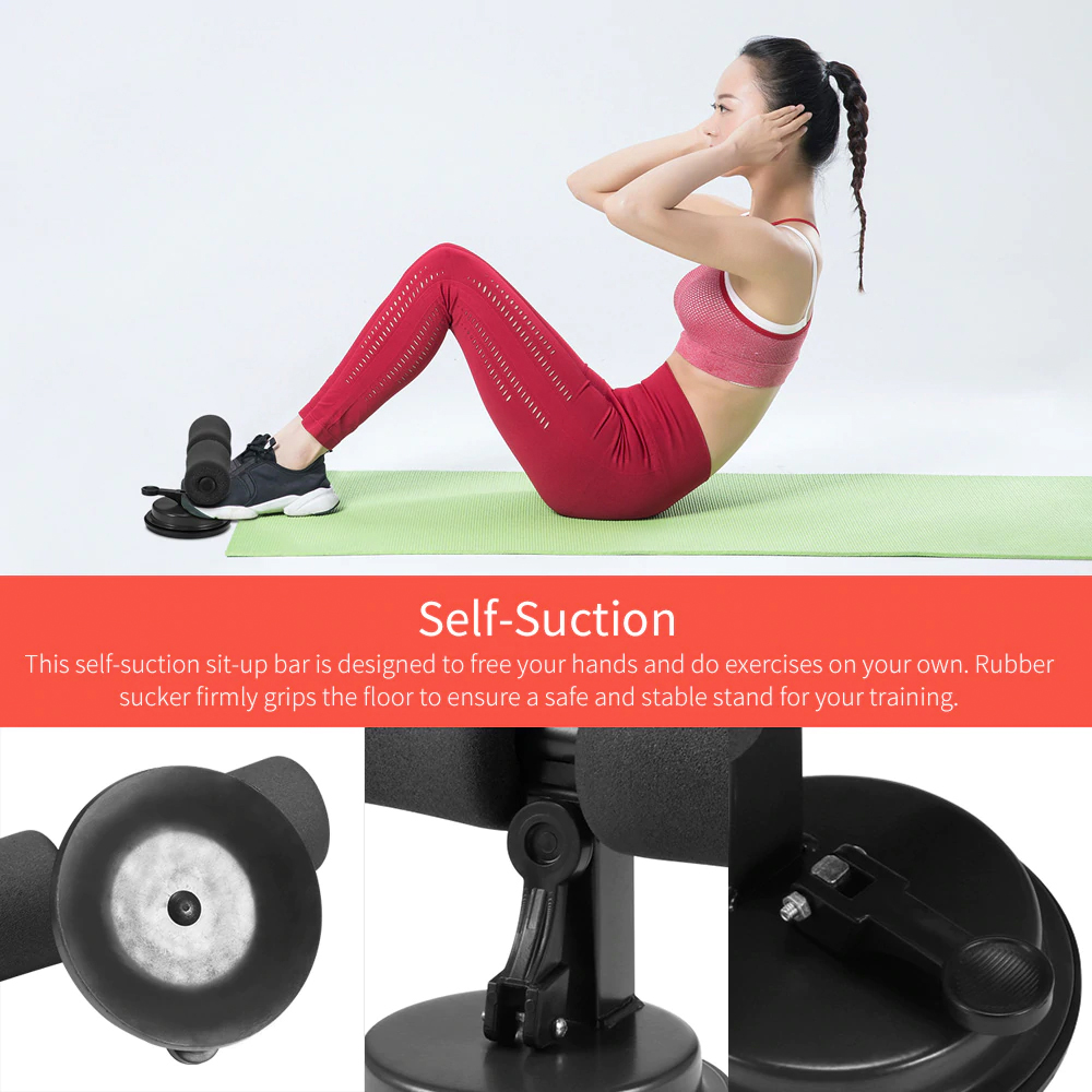 TBF Super Suction Sit Up Bar, Home Fitness Workout, Home Fitness Gear, Home Gym Fitness Equipment, Home Gym