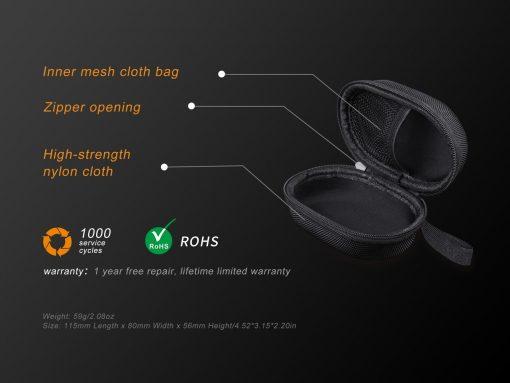 Fenix APB-20 Headlamp Storage Bag Black