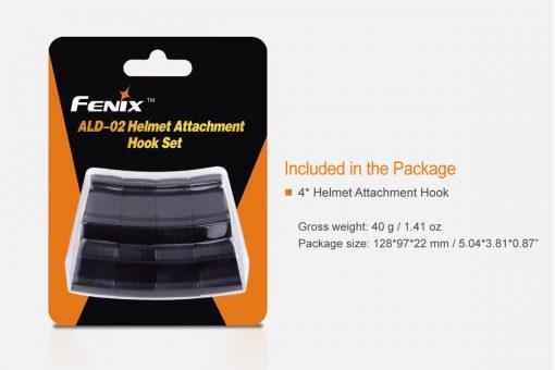 Fenix ALD-02 Helmet Attachment Hook Set