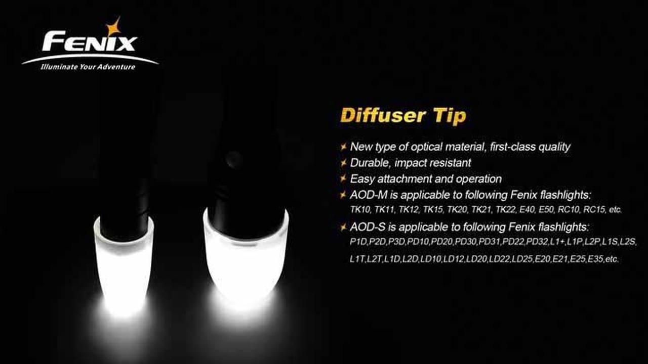 Fenix AOD-M White Diffuser Tip