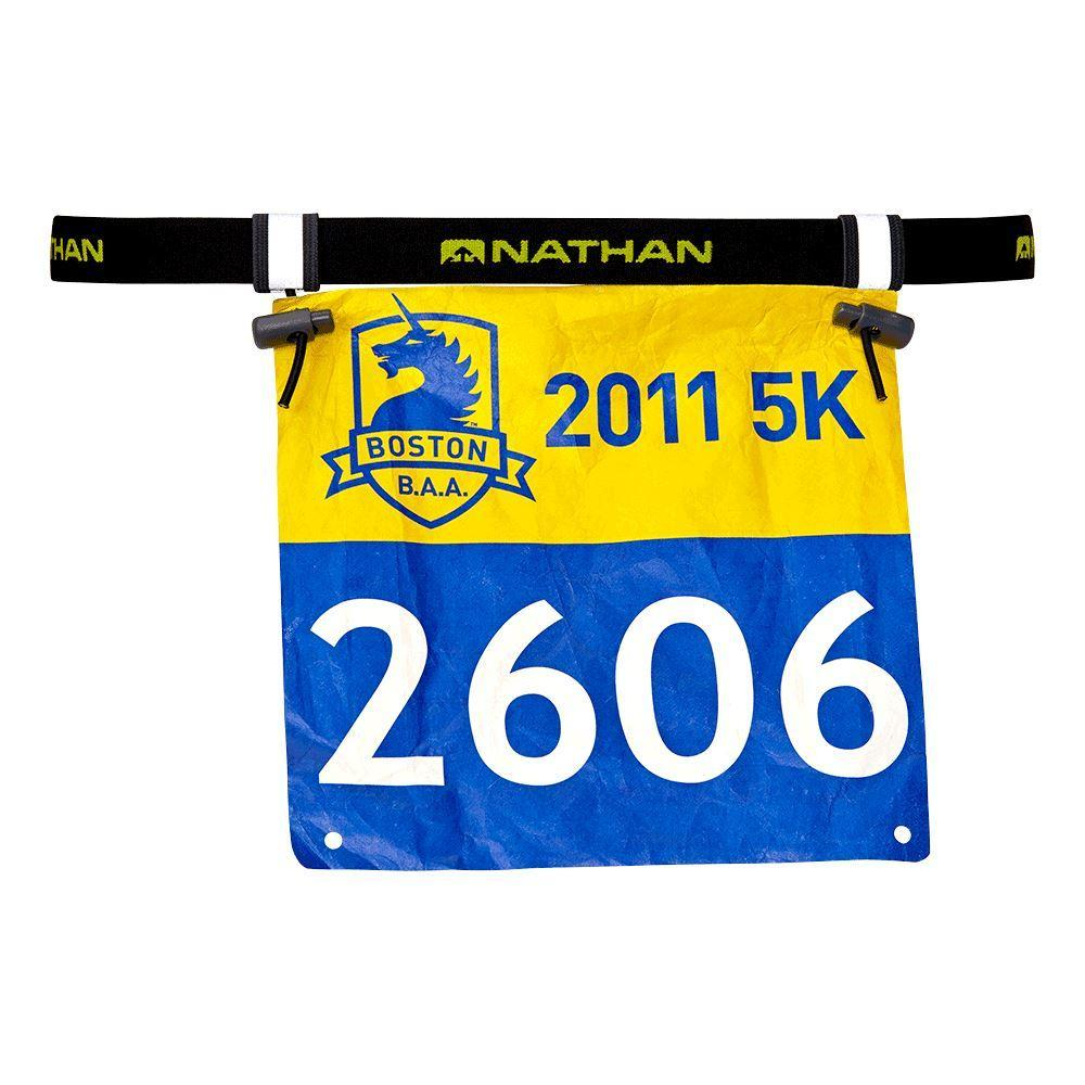 Nathan Race Number Belt, running , marathon essential, champion, number bib