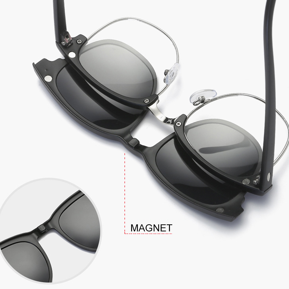 TBF Polarized Magnetic 5 in 1 Sunglasses Casual, cermin mata, outdoor, silau, cahaya, protection, UV, sinar