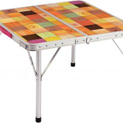 COLEMAN 60 Plus Natural Mosaic Living Room Table- 2 stage adjustable