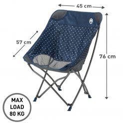 COLEMAN Navy Dot Healing Chair