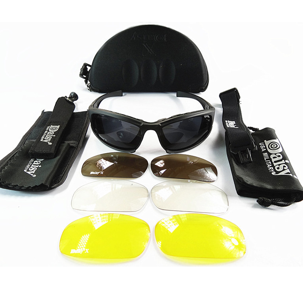 DaisyX Tactical Outdoor 4 in 1 Sunglasses Set
