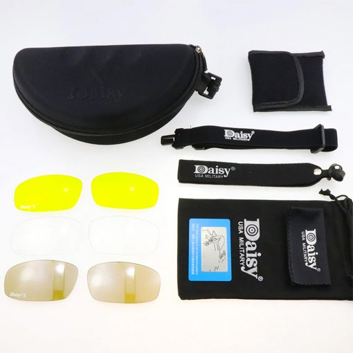 DaisyX Tactical Outdoor 4 in 1 Sunglasses Set 4