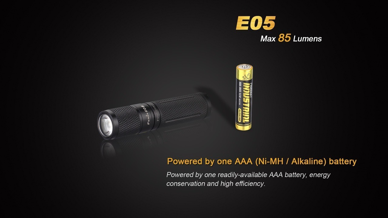 Fenix E05 XP-E2 LED Flashlight- 3 output modes