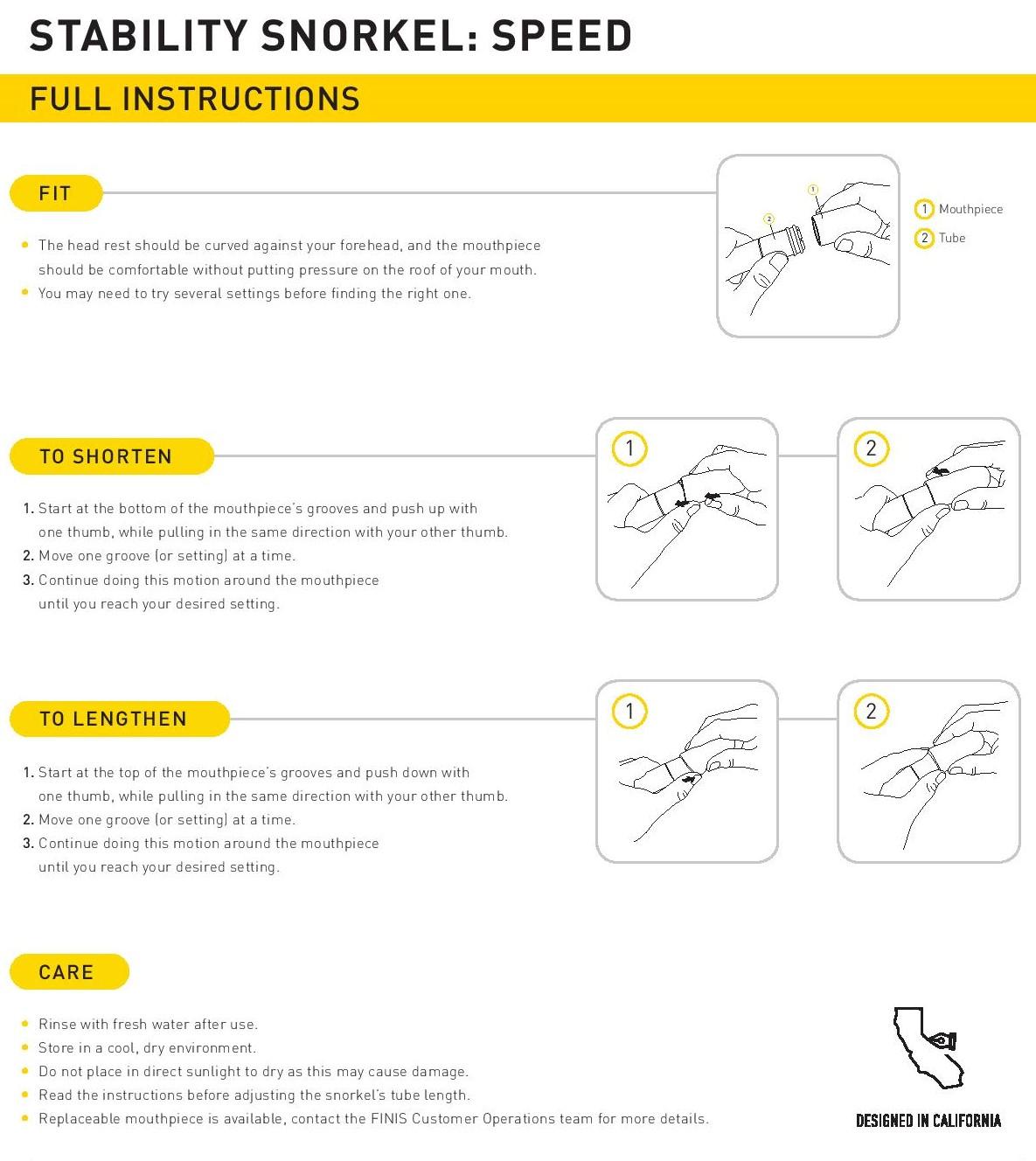 FINIS Speed Stability Bracketless Snorkel, competitive, no bracket snorkel, swim snorkel, fit snorkel, adjustable, custom setting,