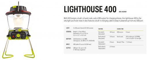 Goal Zero Lighthouse 400 Lantern USB Power Hub Lifestyle 3