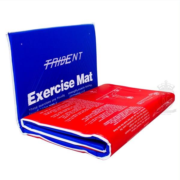 Easy Fold Trident Exercise Mat, gymnast, exercise, yoga, pilates, foam padded mat, travel, foldable