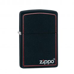 ZIPPO Regular Black Matte Lighter With Border