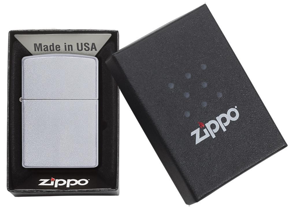 ZIPPO Regular Satin Chrome