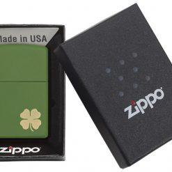 ZIPPO Shamrock Clover Matte Lighter